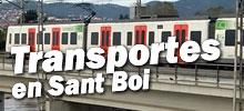 Bus, taxi, tren en Sant Boi de llobregat