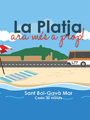 Autobus a la playa Sant Boi , Barcelona