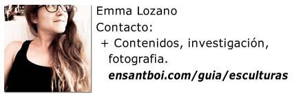 Emma Lozano .. Esculturas de Sant Boi